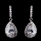 Fabulous Silver Clear CZ Earrings 8634