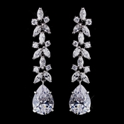Fabulous Silver Clear CZ Earrings 8639