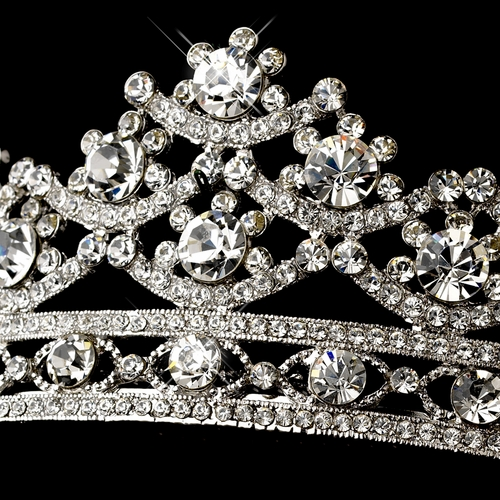 Antique Silver Tiara Headpiece