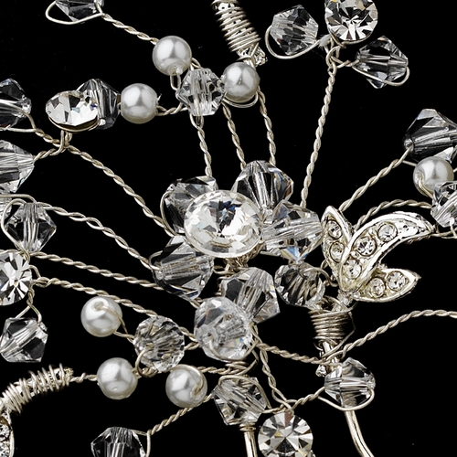 * Elegant Crystal Floral Hair Pin 6268***Discontinued***