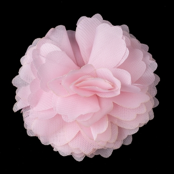 * Dainty Pink Floral Hair Clip with Additional Brooch Pin 9943