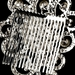 * Antique Silver Comb 402