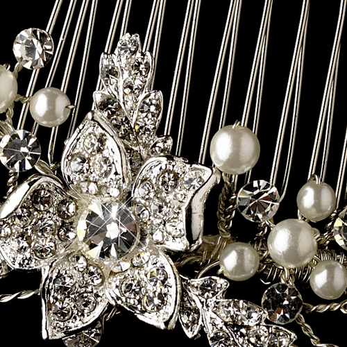 Silver Clear & Pearl Comb 561