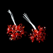 Red Crystal Flower Bouquet Jewels BQ 284