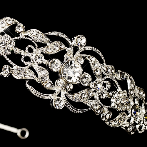 Silver Clear Headpiece Headband 632