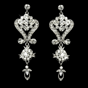 Stunning Crystal Chandelier Earrings E 1031