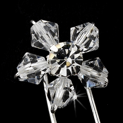 * Swarovski Crystal Daisy Hair Pin 31 (1 pc)