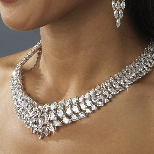 Stunning Cubic Zirconium Necklace N 2695 Discontinued