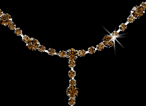 * Sparkling Brown Jewelry Set NEB 322