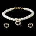 Necklace Earring Bracelet Set NEB C 403 Gold Ivory