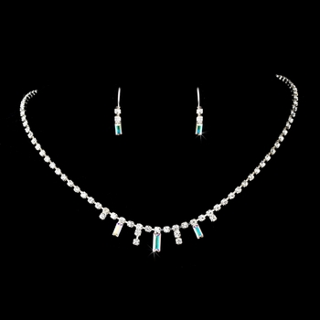 * Silver AB Necklace Earring Set 332 **2 left**