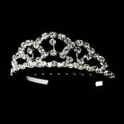 * Silver Crystal Flower Girl's Tiara HPC 687