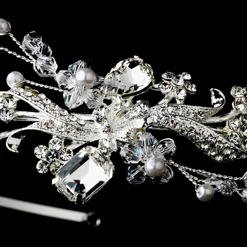 Silver Clear Headpiece 6728