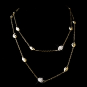 "Gold Clear 36"" Necklace 7985"