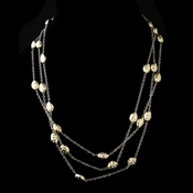"Silver Gold 60"" Necklace 7991"
