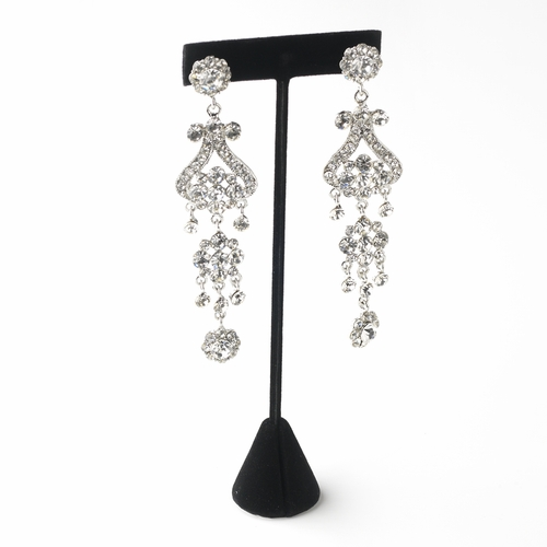Tall Black Velvet Earring Display