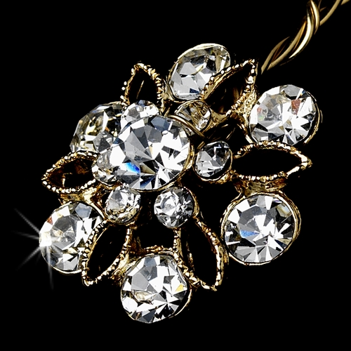 Gold Crystal Bouquet Jewelry BQ 211