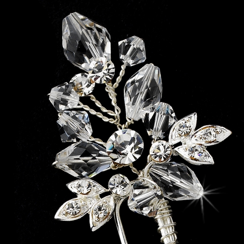 Elegant Crystal & Rhinestone Hair Pin  61