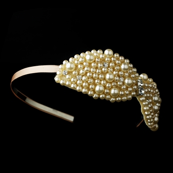 Champagne Bow Headband 2035