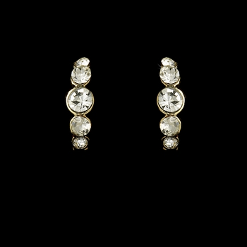 * Earring 20339 Gold Clear