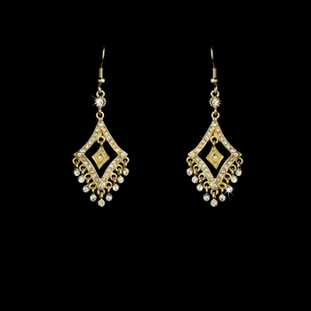 * Earring 20381 Gold Clear