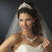 Pearl & Swarovski Crystal Bridal Necklace Earring & Tiara Set 7825