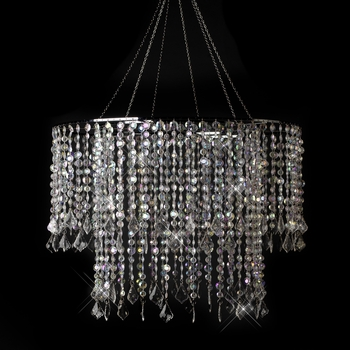 Multi Diamond Cut Beaded Crystal Chandelier 11 AB
