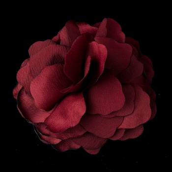 * Beautiful Burgundy Flower Hair Clip 9941