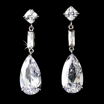 Glamorous Cubic Zirconium Dangle Earrings E 1718