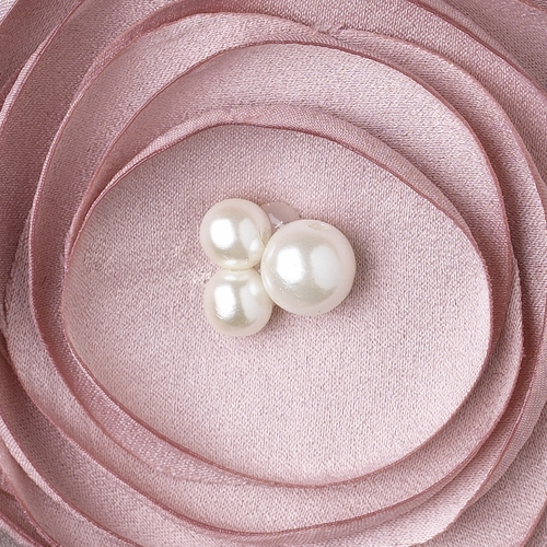 Rum Pink Flower Sophistication Hair Clip with Faux Pearl Accents 9940 with Additional Brooch Pin