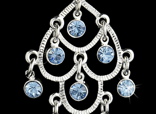 Silver Light Blue Earring 20476