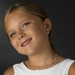 Lovely Children's Silver Ivory Pearl & Clear Crystal Bead Necklace & Earring Set 408