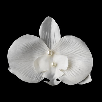 Ivory Pearls and Soft Petals Hair Clip 437 or Clip Brooch