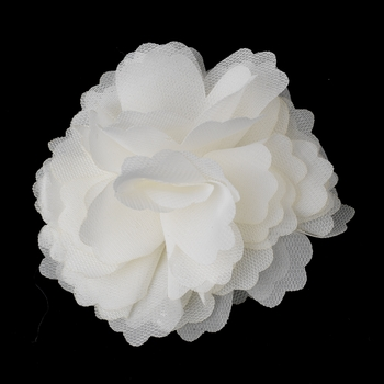 * Dainty Ivory Floral Hair Clip with Additional Brooch Pin 9943***Discontinued***