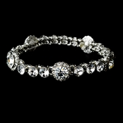 Silver Crystal Bridal Bracelet B 8243***Discontinued***