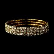 Gold Stretch 3 Line Bracelet 80591