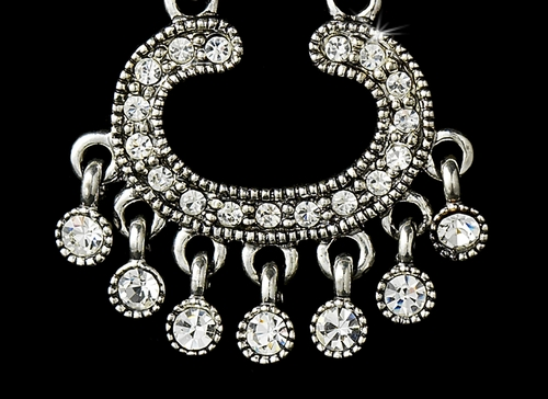 * Earring 20377 Silver Clear***Discontinued***