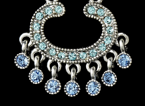 * Earring 20377 Silver Blue Multi