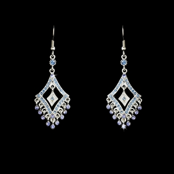 * Earring 20381 Silver Light Blue