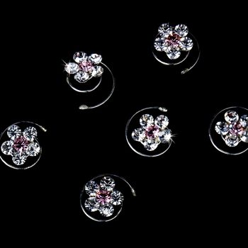 Twist In 1 Crystal Clear with Pink Center (Set of 12)