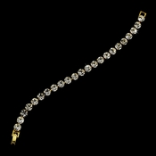 * Gold Clear Rhinestone Bridal Tennis Bracelet B 99