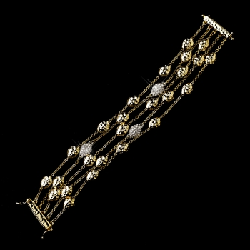 Four Strand Gold Clear Bracelet 7984
