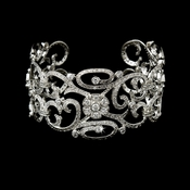 Best Selling Silver Floral CZ Vintage Bangle Bracelet 8101