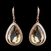 Rose Gold Topaz Earrings 8835