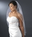 "Beaded Single Layer Elbow Length Bridal Veil (30"" long x 71"" wide) White or Ivory Veil 1523"