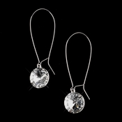 Silver Clear Dangle Bridal Earrings 8400