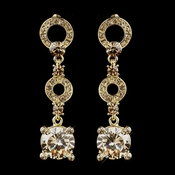 Gold Topaz Bridal  Earrings 935