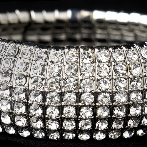 Silver Clear Stretch Bracelet 8803