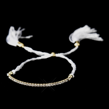 B 8813 Gold White Tassle