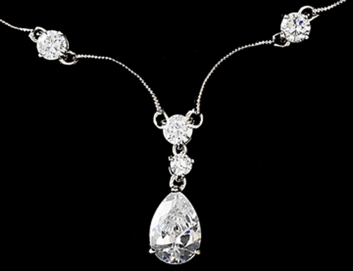 Necklace 2701 Silver Clear